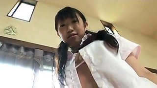 SAKURAI Emu take off school uniform
