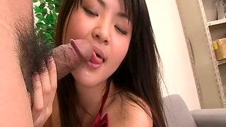 Hot slut Kanna Harumi gives head and gets her pussy fucked hard