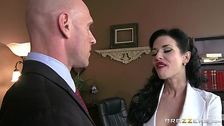 Sensual Red Lips Caught Masturbating By Her Boss