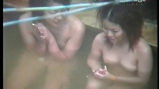 Hot asian taking a bath Bath
