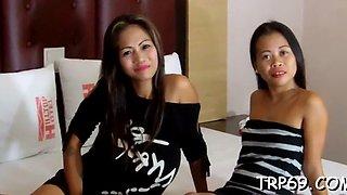 phat thai slut enjoys gentle fuck