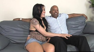Chastits Cuckold watching his Hotwife Vanessa Naughty Taking A BBC