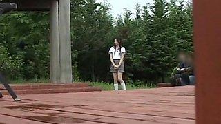 Best Japanese chick Saori Hara in Amazing College/Gakuseifuku, Outdoor JAV scene