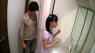 Pigtailed Japanese teen enjoys a deep fucking in the shower