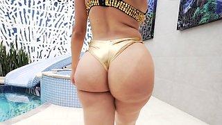 Big booty latina tgirl gets tight ass barebacked