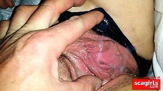 Sperme de son amant dans la chatte