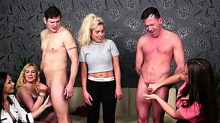 British cfnm babes cocksucking till cumshot
