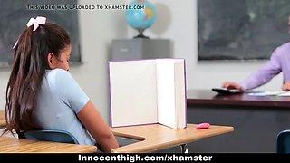 InnocentHigh - Schoolgirl Offers To Be Teachers SexToy