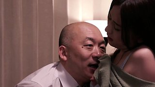 Old man forcing young asian girl to fuck