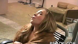 naked ebony enjoys smoking extreme