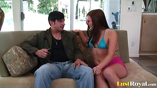Teen babe Vanessa Cage loves to slam hard