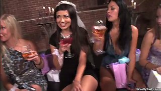 amber and her friends get drunk and have fun with a big cock
