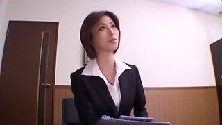 Incredible Japanese whore Akari Asahina in Hottest Secretary JAV clip