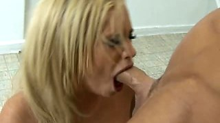 Busty Blonde Inmate Shyla Stylez Does Ass To Mouth and Swallows Cum