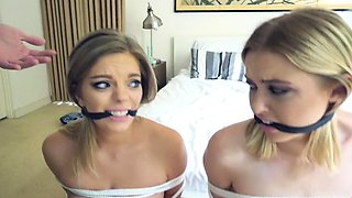 Obedient Teens Chloe And Trisha Get Banged
