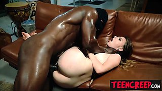 Cute babe Alex Blake roughly fucked by creepers monster dick