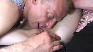 Daddy Brings His Friends Home To Fuck His Girl !