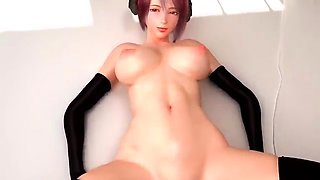 Stacked redhead gives her shaved pussy to a fat cock in 3D