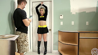 Superheroine Batgirl Bound and Fucked by a Criminal
