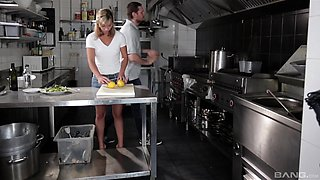 Cecilia De Lys enjoys a hardcore pounding session in a kitchen