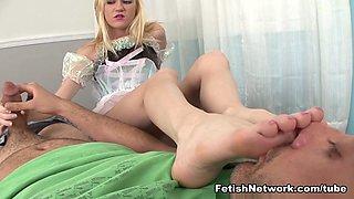 Hottest pornstars Kristy West, Chloe Foster in Crazy Foot Fetish, Fetish xxx scene