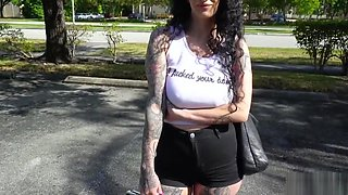 Punk chick assfucked in the Bangbus