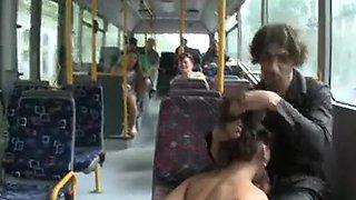 Hot Czech Angel Drilled on Public Bus
