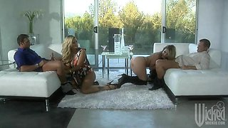Wicked Blondes Party With Their Husbands in a Foursome