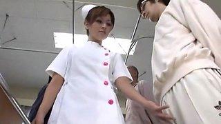 Exotic Japanese chick Azusa Isshiki in Amazing Stockings, Nurse JAV movie