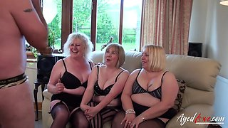 AgedLovE Three Busty British Matures and One Dick