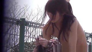 Japanese babe shows nipple while secretly filmed
