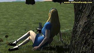 Rabbit bangs Alice in the Wonderland