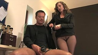 Lovely MILF and her thrall having fun