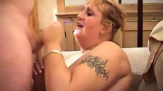 Curvy Granny in Lingerie Fucking