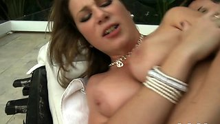 Cutie with large pointer sisters masturbates and gets licked