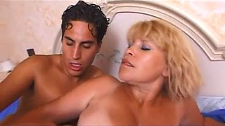 Mature blond and young guy