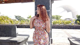 Mouth watering ginger babe Agatha gets naked and plays with herself