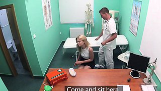 Fake Hospital Petite blonde Czech patient health test