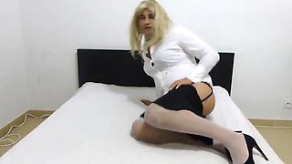 White shirt crossdressing