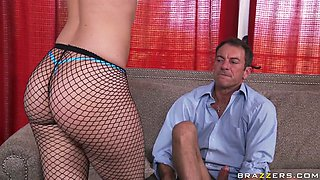 Whorish and slutty Alexis Texas ripped her panties to get banged