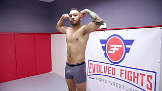 Riley Reyes mixed wrestling fight fucked on the mat