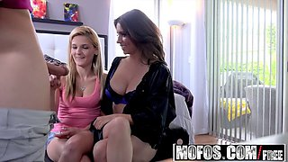 mofos - busted babysitters - milf and spinner threesome star