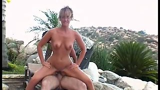 Trashy chick Lizzy Law gets messy facial after rough outdoor fuck