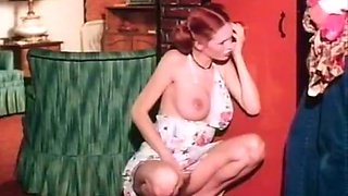 Super busty classic sluts go wild and reach orgasm in horny house