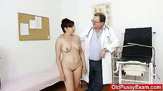 Redhead madam internal piss hole medical-tool exam