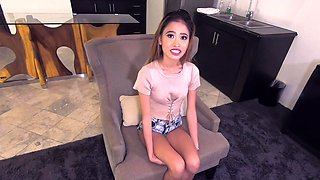 Sexy Skinny Asian Maid Bangs Boss to Get Job!