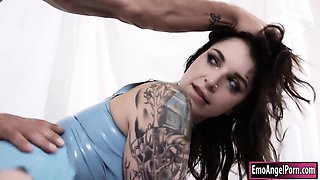 Big boobs tattooed emo Ivy Lebelle butt plug and analyzed