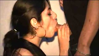 amateur latin scene with a beauty that swallows