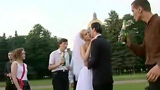 Bride Sluts - New Bride Celebrating Gets Gang Banged in Public Park