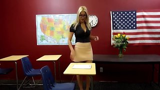 Sexy Teacher Masturbation